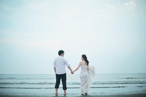 Pre-Wedding [ 中部婚紗 – 森林草原系列海邊 ] 婚紗影像 20160811 - 27