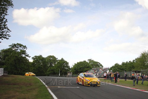 Martin Depper on the BTCC grid at Oulton Park, May 2017