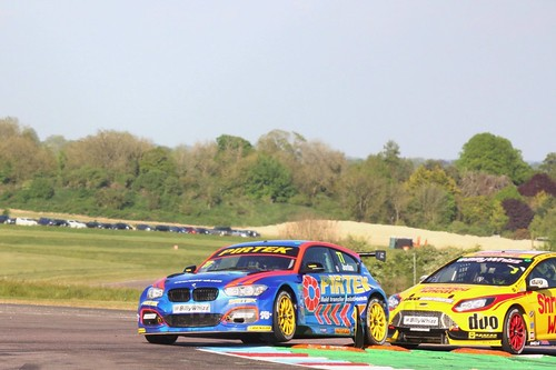 Andrew Jordan and Mat Jackson during the Thruxton BTCC round, May 2017