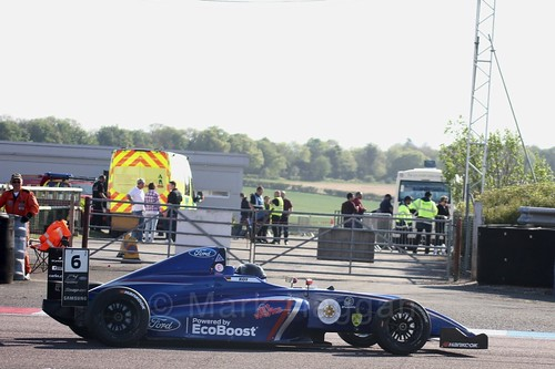 Lucas Alecco Roy in British Formula Four at Thruxton, May 2017