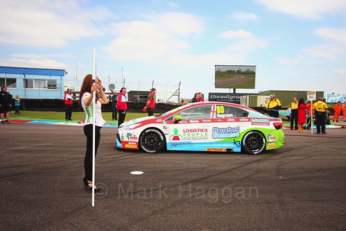 Tom Ingram on the grid at the Thruxton BTCC weekend, May 2017