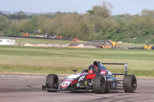 Karl Massaad in British Formula Four at Thruxton, May 2017
