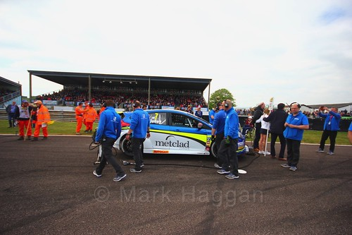 Stephen Jelley on the grid at the BTCC Thruxton weekend, May 2017