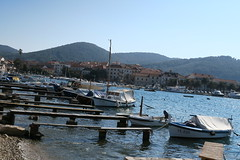 Old port area in Vela Luka