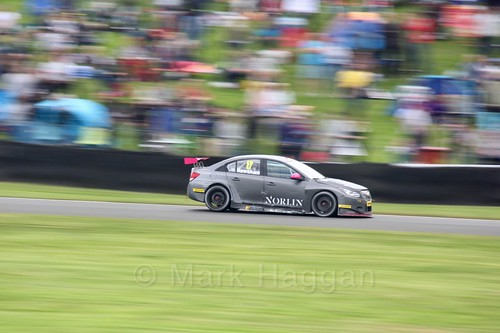 Dave Newsham in BTCC action at Oulton Park, May 2017