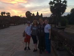 Family at Angkor Wat