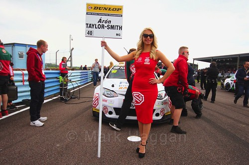 Aron Taylor-Smith on the grid at the Thruxton BTCC weekend, May 2017
