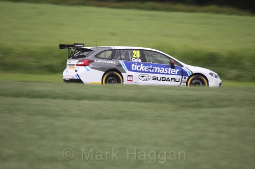 James Cole in BTCC action at Croft, June 2017