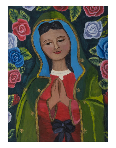 Autor: JAIME ADAN FIERRO SAÑUDO, Virgen del cielo  50x70 cm