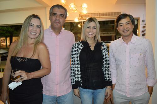 Cláudia, Rodrigo, Letícia Soares e Marcelo
