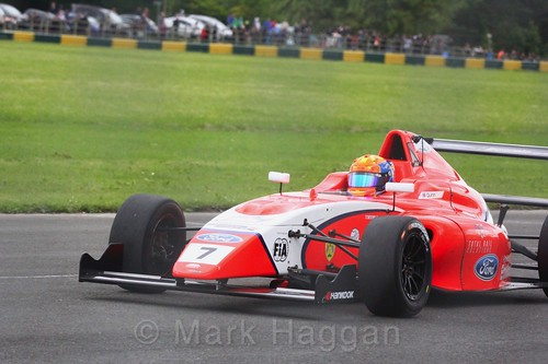 Alex Quinn in British F4 during the BTCC weekend at Croft, June 2017