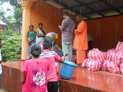 Distribution of goods to Flood Victims