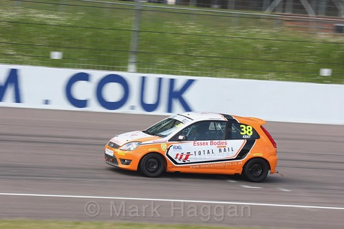 Bradley Kent in the Fiesta Junior championship at Rockingham, June 2017