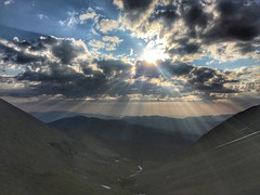 Sunrise from atop the headwall