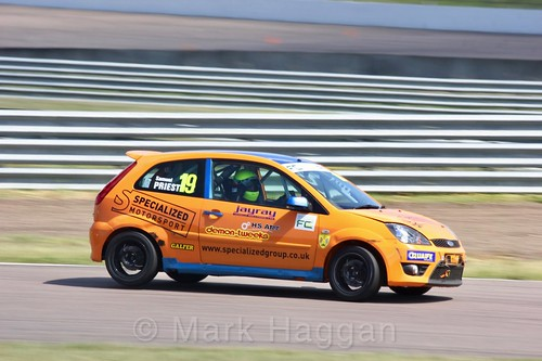 Samuel Priest in the Fiesta championship Class C at Rockingham, June 2017