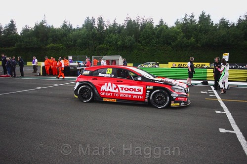 Adam Morgan on the BTCC grid at Croft, June 2017