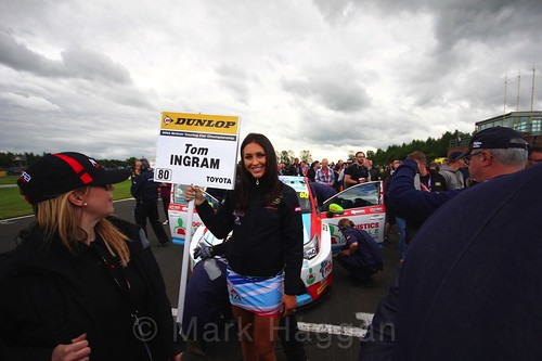 Tom Ingram on the BTCC grid at Croft, June 2017