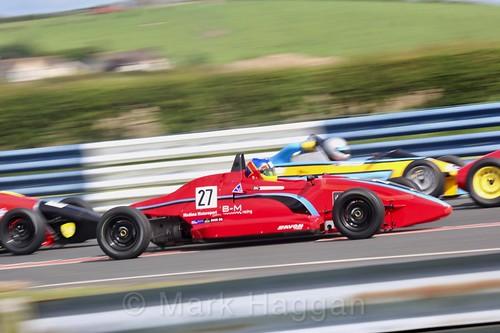 Matt Round-Garrido in the Formula Ford FF1600 championship at Kirkistown, June 2017