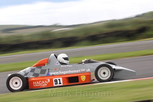 Jamesy Hagan in the Formula Ford FF1600 championship at Kirkistown, June 2017