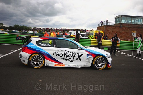 Colin Turkington on the BTCC grid at Croft, June 2017