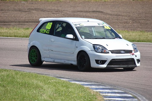 Jamie Going in the Fiesta championship Class C at Rockingham, June 2017