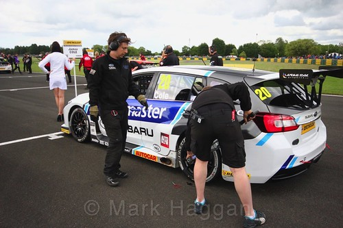 James Cole on the BTCC grid at Croft, June 2017