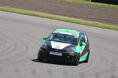 Josh Hislop in the Fiesta Junior championship at Rockingham, June 2017