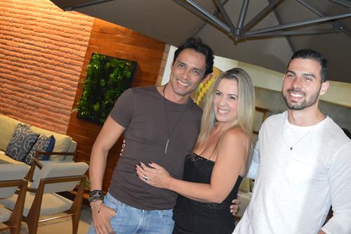 Flávio Osamu, Cláudia Damasceno e Kevin Damasceno