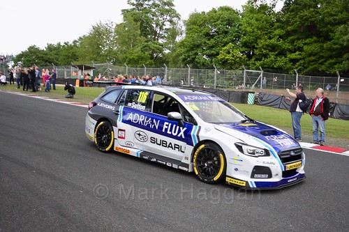 Ashley Sutton on the BTCC grid at Oulton Park, May 2017