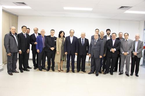 Comitiva Sistema FIEMG e lideranças regionais