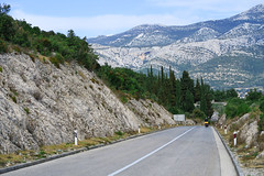 Along the mountains in Korcula