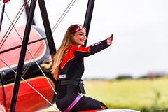 Belgian Open Aerobatic Championship Koksijde 2017 - Danielle Wingwalker - Boeing PT-13D Stearman