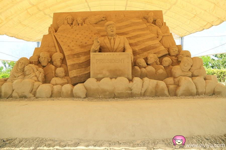 [日本.鳥取]必遊景點.鳥取沙丘.沙漠風情般&砂之美術館.10週年展出美國相關作品.每年佈展更新 @VIVIYU小世界
