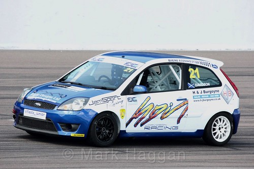 Jack Davidson in the Fiesta Junior championship at Rockingham, June 2017