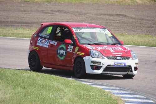Danny Harrison in the Fiesta championship Class C at Rockingham, June 2017