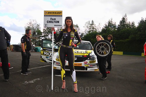 Tom Chilton on the BTCC grid at Croft, June 2017