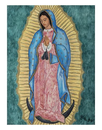 Autor: ROSA MA ESCALANTE BEREA, Virgen de Guadalupe  40x30 cm