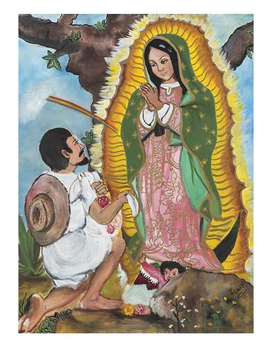 Autor: MA. ROSALIA REYES TORRES, Amor a La Virgen  70x60 cm