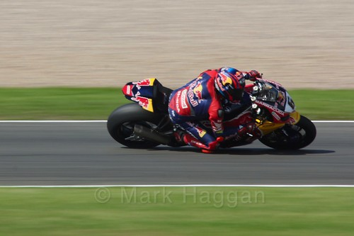 Stefan Bradl in World Superbikes at Donington Park, May 2017