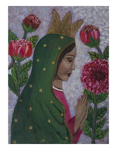 Autor: MA DE LOS ANGELES ROMERO PEREZ, Mi morenita  40x30 cm