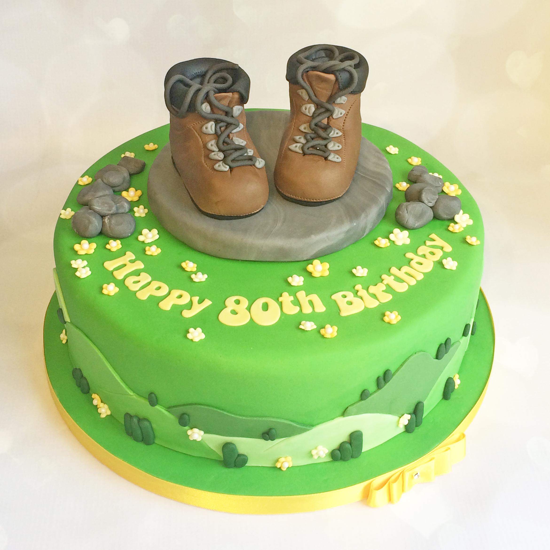 Hiking Birthday Cake