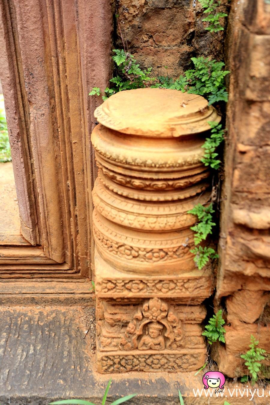 [柬埔寨.景點]吳哥窟外圈必遊之地.女皇宮.濕婆宮~以朱色砂岩建構而成 @VIVIYU小世界