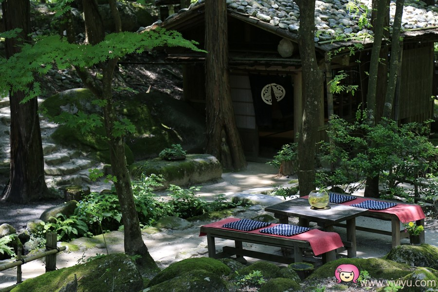 [鳥取.美食]三滝園(みたき園)山菜料理.森林裡的祕境~預約制山菜料理.瀑布.流水.咖啡香 @VIVIYU小世界