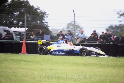 Harry Webb in British F4 during the BTCC weekend at Croft, June 2017