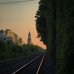 Twilight descending on Toronto's midtown rails