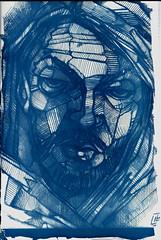 Fil, sviluppo in cianotipia di disegno, 2016