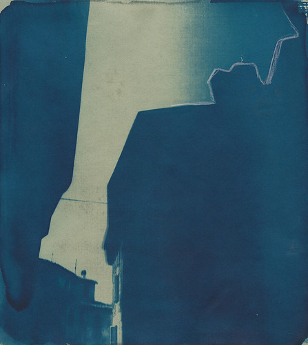 Spoleto,cianotipia e pastello, 2017