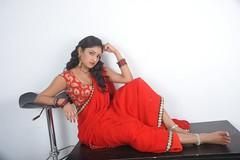 ACAM Telugu Movie Heroine Haripriya Saree Hot Photos