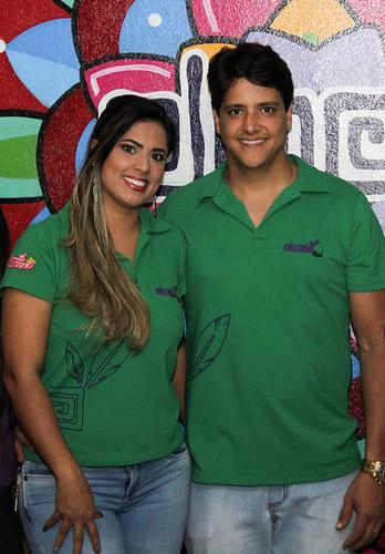 Eduarda Barroso e Thiago Assunção.