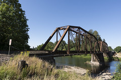 1906 SP truss bridge at Jefferson